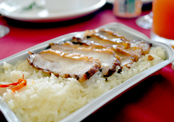 air asia hot meals - chicken rice