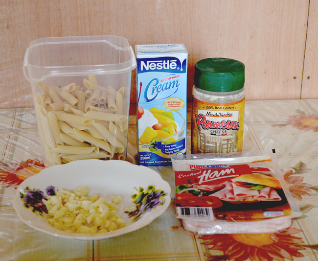 penne carbonara ingredients