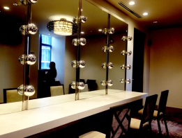 Mirrors in one of the bridal suite