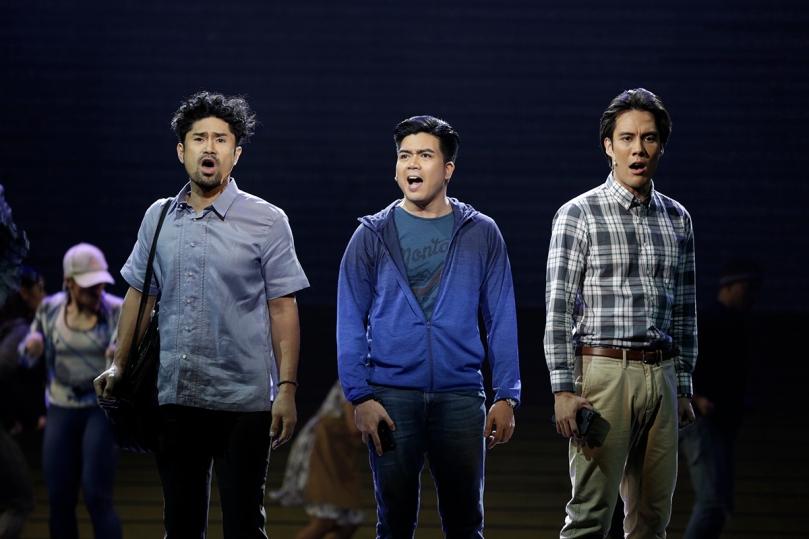 New cast members Myke Salomon, David Ezra, and Rafa Sigioun-Reyna in Resorts World Manila_s Ang Huling El Bimbo